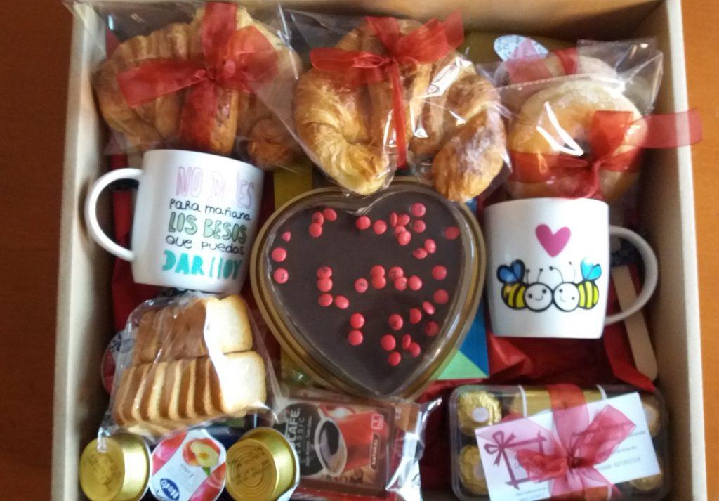Desayuno san valentin para dos, desayunos para compartir, desayunos sorpresa para compartir, desayuno enamorados para dos