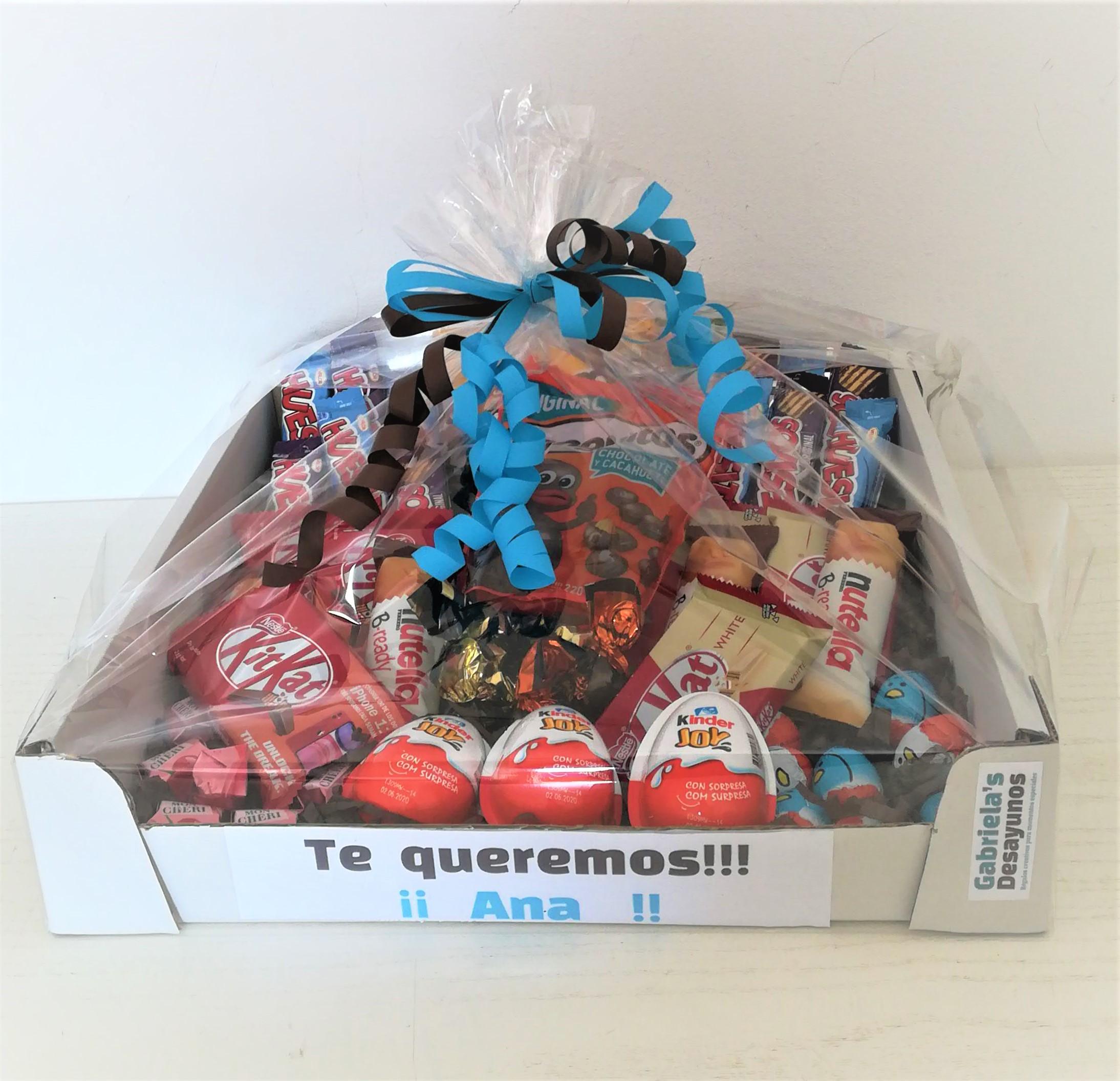 cestas dulces, cesta de dulces, cesta de chocolates